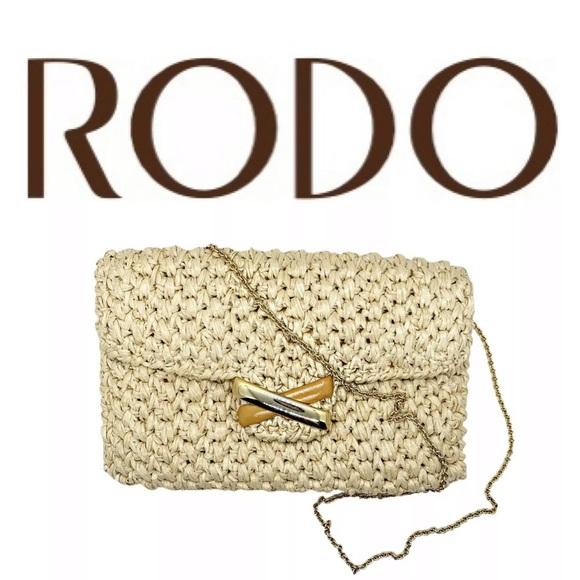 RODO VINTAGE WOVEN ENVELOPE CLUTCH CHAIN BAG